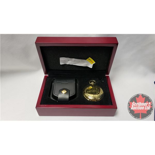 "Canadian Pacific Railway Pocket Watch in Gift Case ""The Last Spike"""