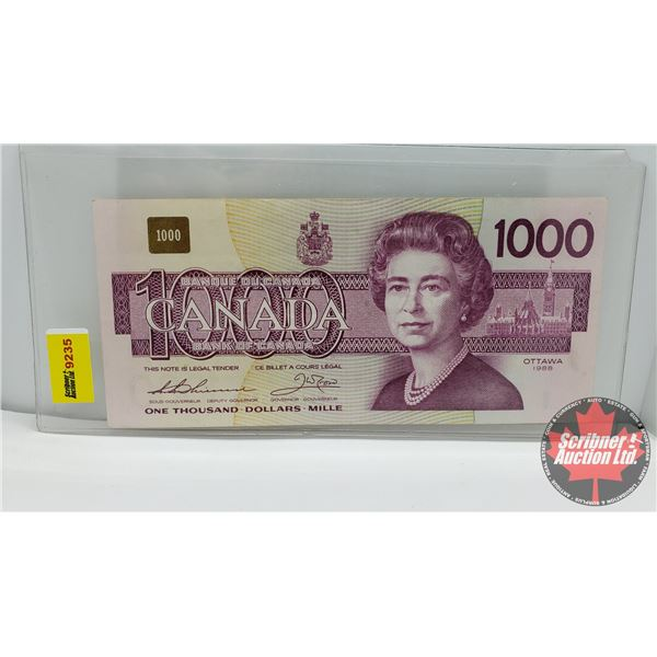 Canada $1000 Bill 1988 : Thiessen/Crow #EKA0785378