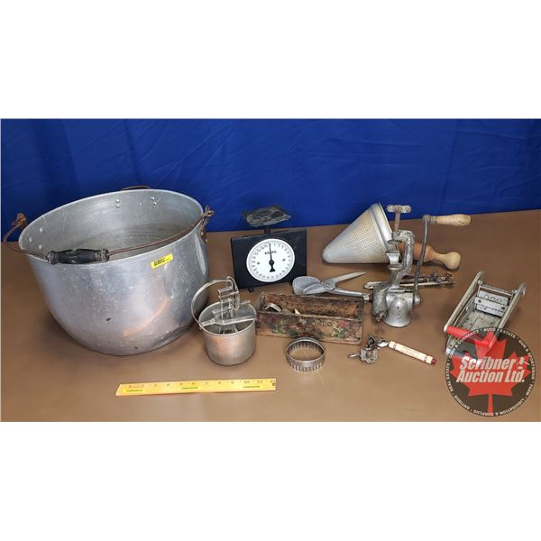 Variety of Kitchen Items in Cauldron (See Pics!)
