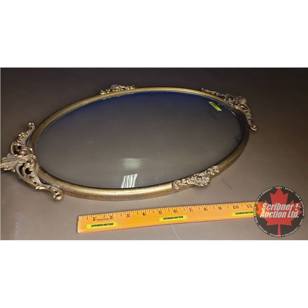 "Oval Convex Glass & Frame (23-1/2""H x 16""W)"