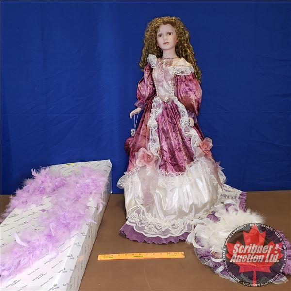 "Porcelain Doll ""Misstella"" : By Heirloom Dolls - Limited Edition (273/2500)  (3'H)"