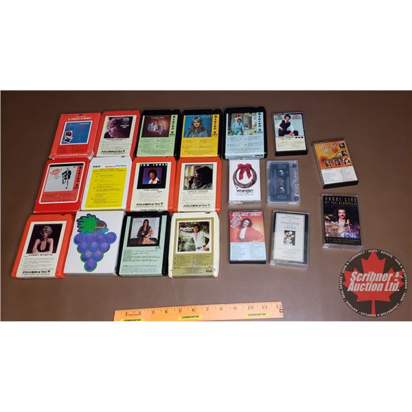 Variety of 8 Tracks & Cassettes (See Pics)