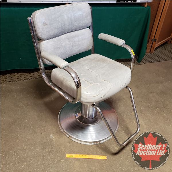 """Barber/Stylist Chair - Adjustable Height (36""""H to 42""""H) (24""""W x 30""""D)"""