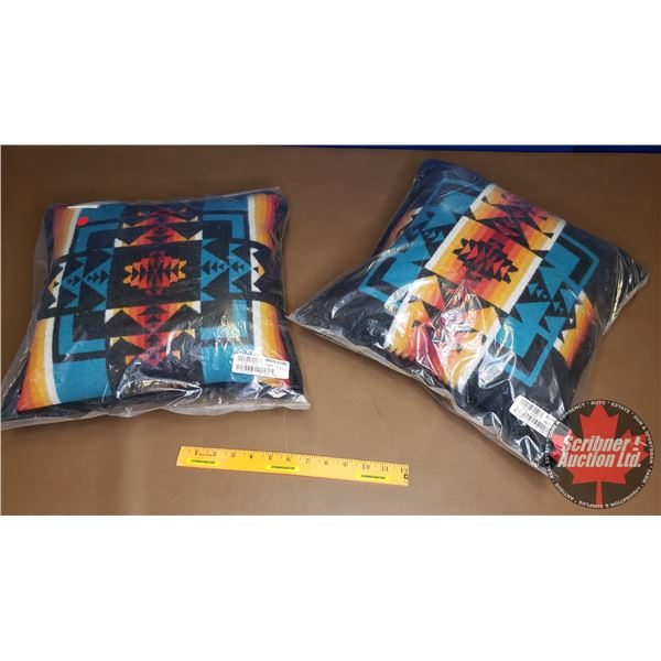 """Pendleton Pillows """"Chief Joseph Collection"""" (2) (New in Bag) (16""""H x 16""""W)"""