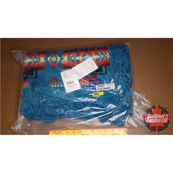 """Pendleton Blanket """"Chief Joseph Collection"""" (Turquois) (New in Bag) (44""""H x 32""""W)"""