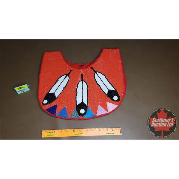 Native Beaded Chestguard (Red)