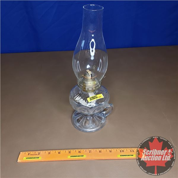 """Pedestal Finger Lamp """"Queen Anne"""""""