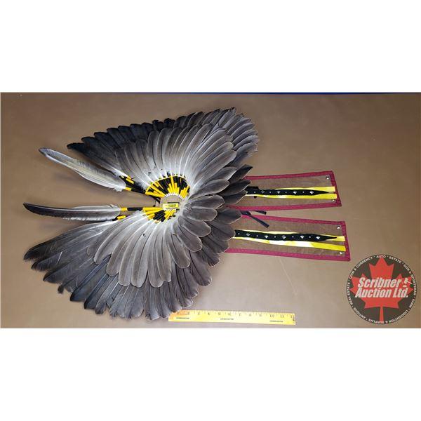 "Native Pow Wow Feather Head Dress (32""H)"