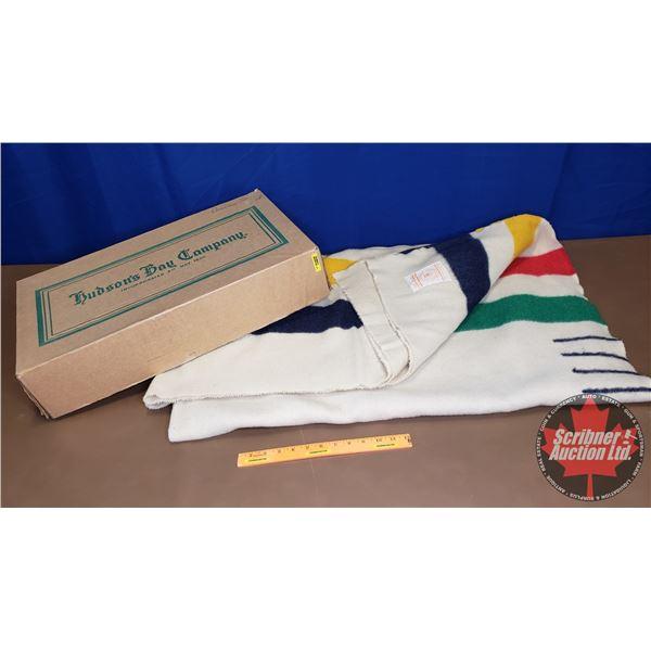 "Hudson's Bay Blanket : 4 Point (w/Original Box) (84"" x 72"")"