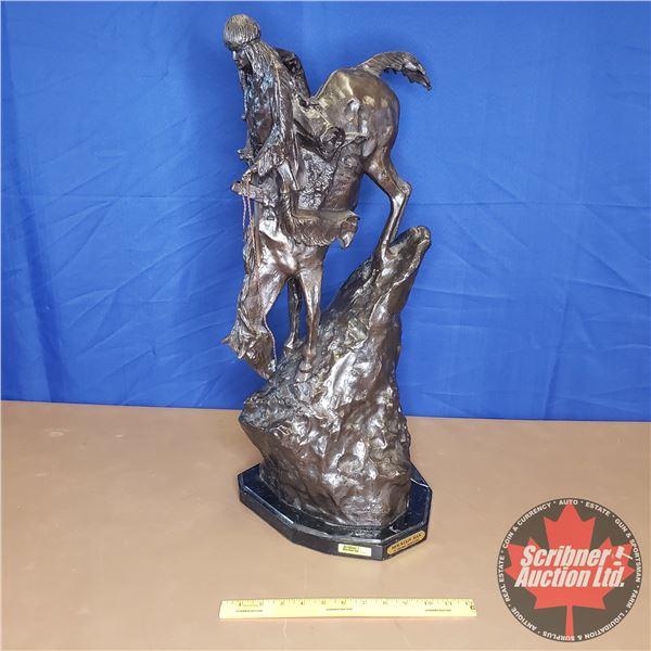 "Bronze Sculpture - Large ""Mountain Man"" : Fredric Remington (27""H)"