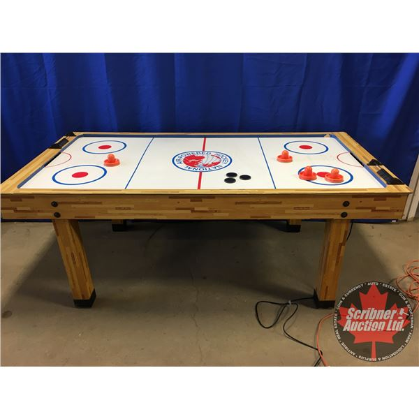 "Air Hockey Table (32""H x 84""W x 43""D) (Slight warping - playable)"