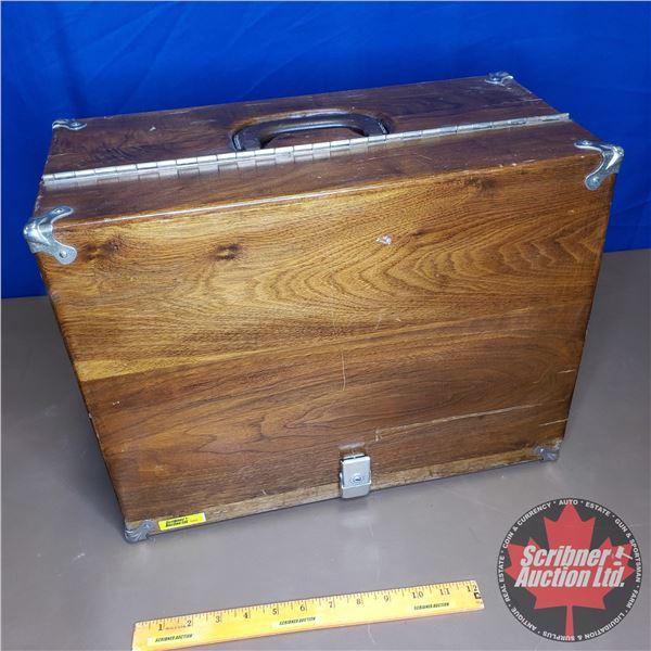 """Pistol Range Wooden Carry Box (Holds 4 Guns) (14""""H x 18""""W x 9""""D)"""