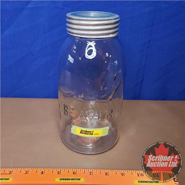 """Beaver Jar - Quart (9""""H)"""