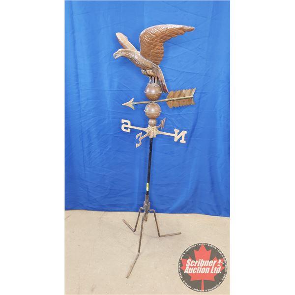 "Eagle Copper Weathervane on Stand (60""H)"