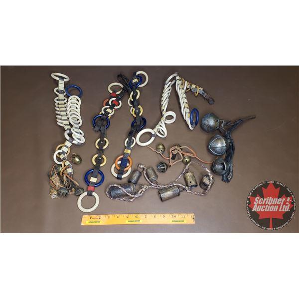 Box Lot: Horse Spreader Ring & Bells