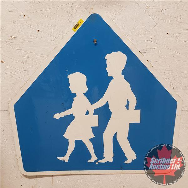 """Steel Single Sided School Sign (24""""H x 24""""W)"""