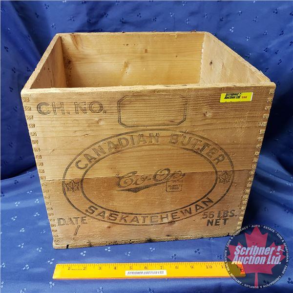 "Wood Box: Canadian Butter Co-Op (12""H x 13-1/2""W x 13-1/2""D)"