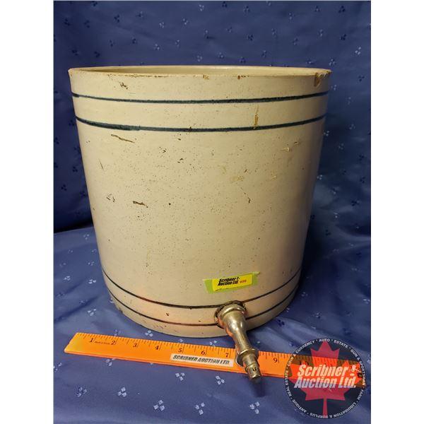 "Water Crock w/Spigot (11""H x 11"" Dia)"