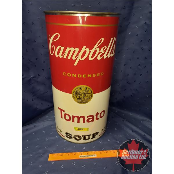 """Campbell's Tomato Soup - Large Can (Trash/Laundry/Umbrella) (19-1/2""""H x 10"""" Dia)"""