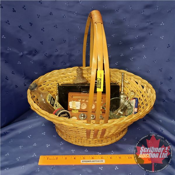 Basket Lot: Apothecary Items (See Pics)