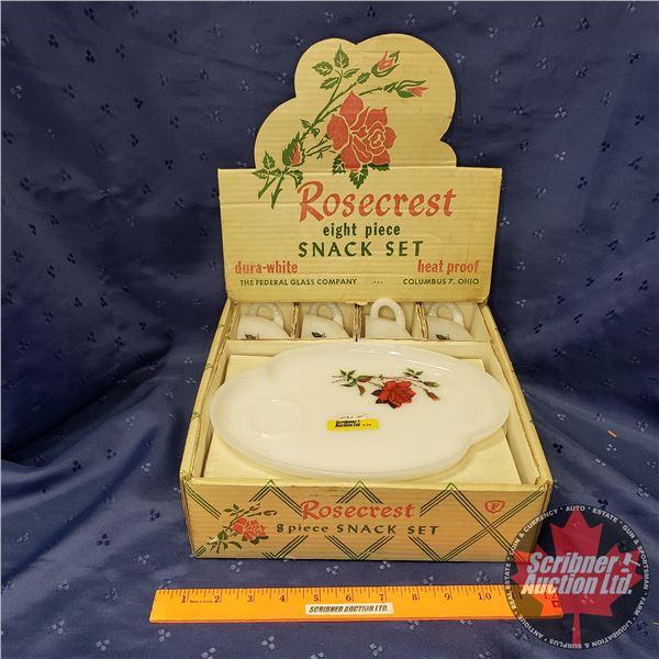 Rosecrest 8pc Snack Set (NIB)