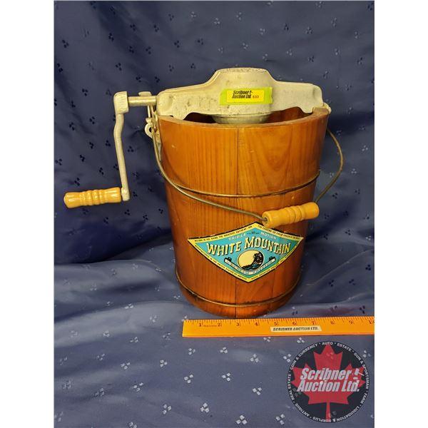 "White Mountain Ice Cream Maker - Barrel type (12""H)"