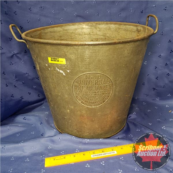 """No 8 Universal Bread Maker Pail - Embossed (12""""H)"""