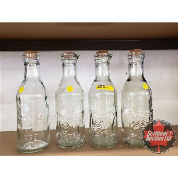 Bottles : Absolutely Milk (3) & Fresh Orange Juice