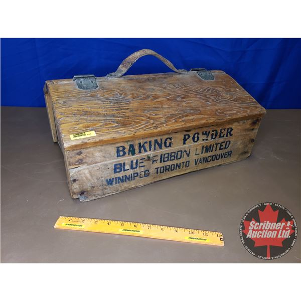 """Hand Crafted Tool Box - Made from Blue Ribbon Wooden Crate (8-1/2""""H x 19-1/2""""W x 14""""D)"""