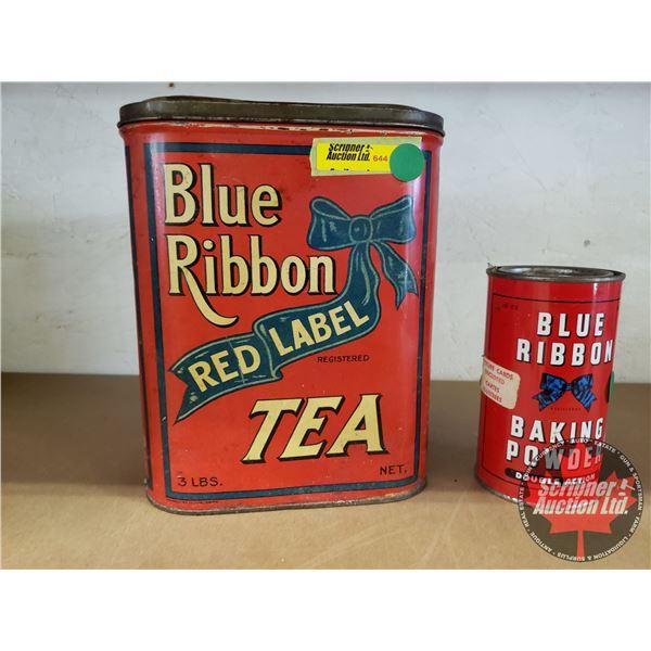 Blue Ribbon Tins: Tea & Baking Powder