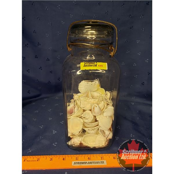 "Perfect Seal Jar w/Sea Shells (10""H)"
