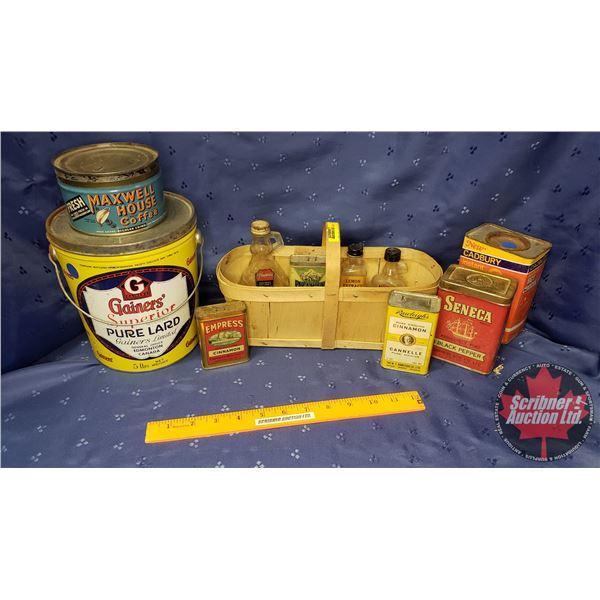 Confectionary Tins & Basket