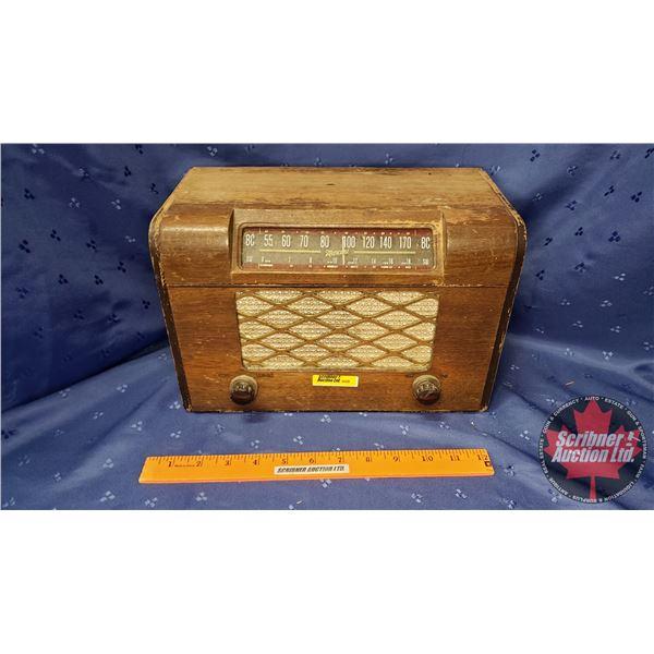 "Marconi Table Top Radio (8""H x 12""W x 6""D)"