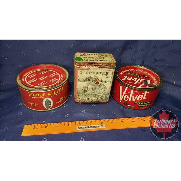 Tobacco Tin Trio : Velvet, Prince Albert & Repeater