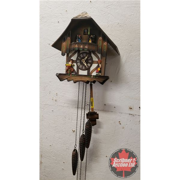 """Cuckoo Clock Made in West Germany """"Swiss Musical Movement"""" - Working"""