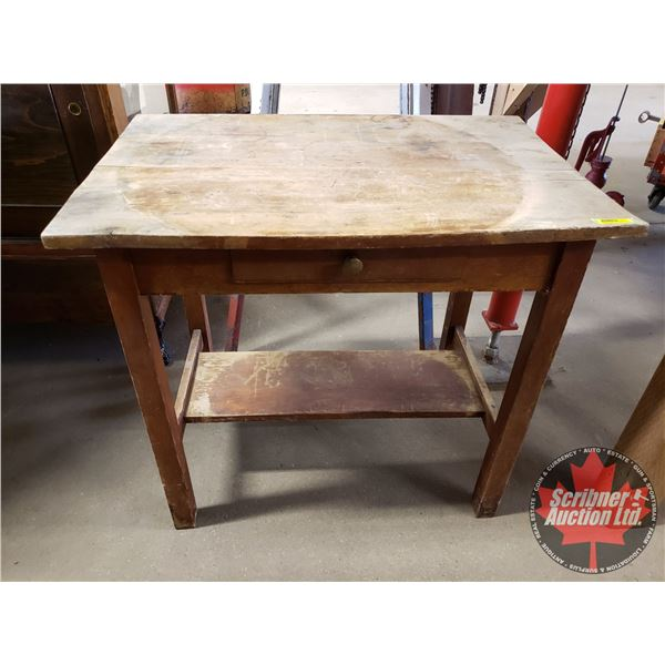 """Wooden Writing Desk / Table - One Drawer (28""""H x 30""""W x 19-3/4""""D)"""