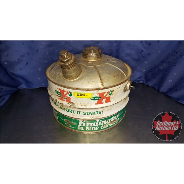 """Kralinator Spouted Can (10""""H x 11"""" Dia)"""