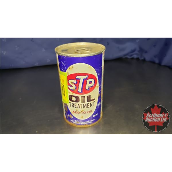 "STP Oil Treatment Tin (Full) (5""H x 3"" Dia)"