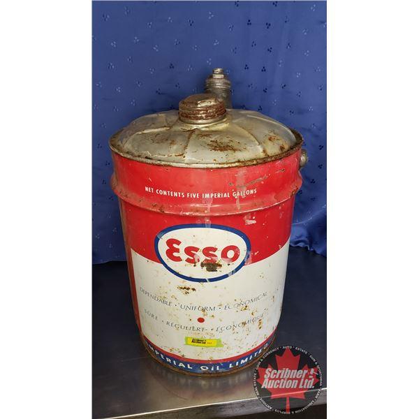 """ESSO 5 Gallon Pail w/Spout (18""""H x 11"""" Dia)"""