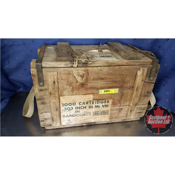 ".303 Wooden Ammo Box (11""H x 17""W x 9""D)"