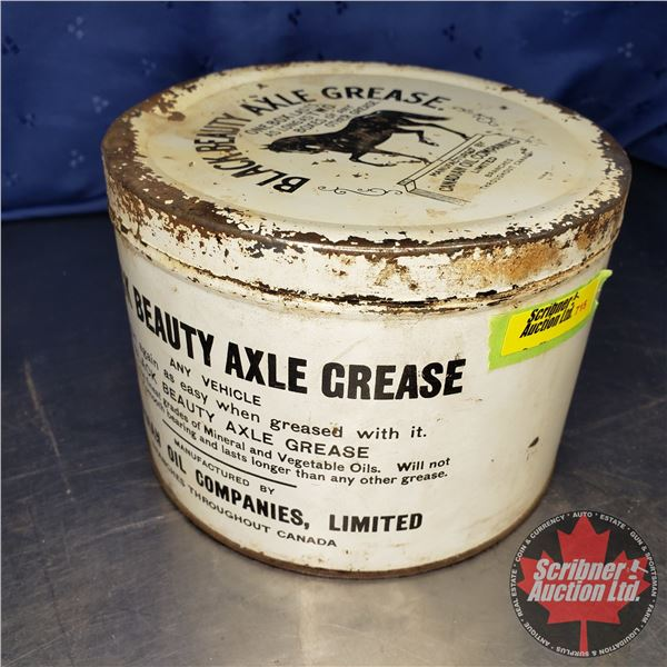 "Black Beauty Axle Grease Tin (4-3/4""H x 6-1/2"" Dia)"