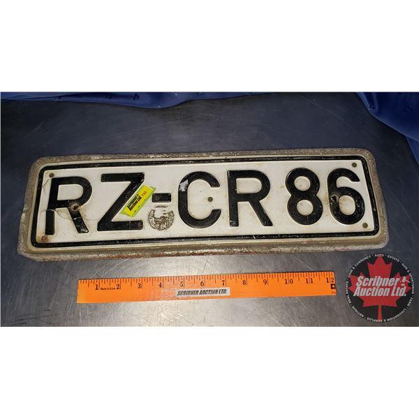 """European License Plate (5-1/2""""H x 18""""W)"""