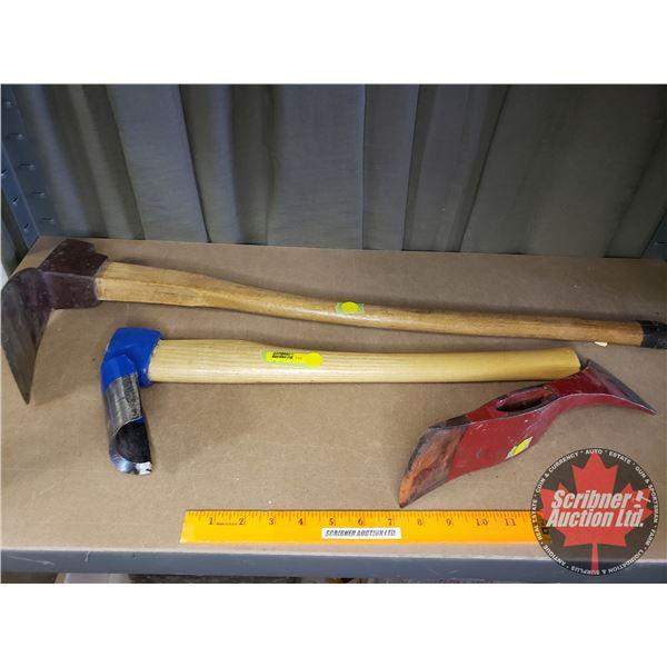 Digging, Gouging & Fire Ax Heads (2 Handles)