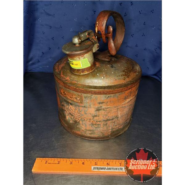 "Agate Metal Products Fuel/Kerosene Can (10-1/2""H x 8-1/2"" Dia)"