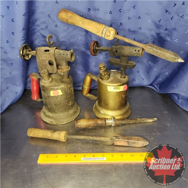 Blow Torches (2) & Soldering Irons