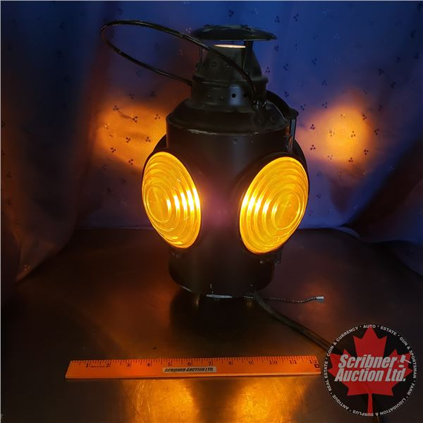 """Electrified Amber Signal Light (Embossed """"HLPM"""")"""