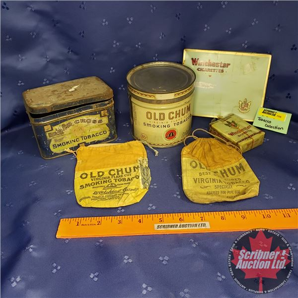Tobacco Collector Combo: Winchester Cigarettes (2); Old Chum (3) & Gold Cross