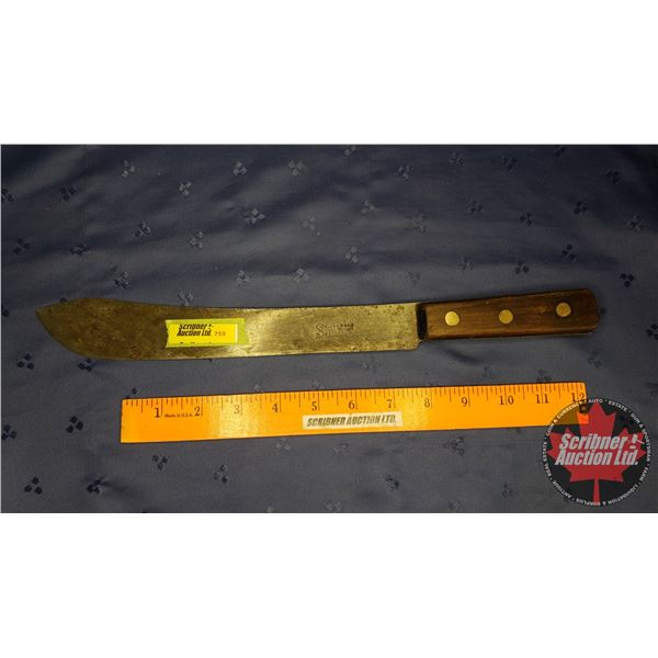 """Butcher Knife """"Stacey Bros """"Ark"""" Works Sheffield"""" (15""""L)"""