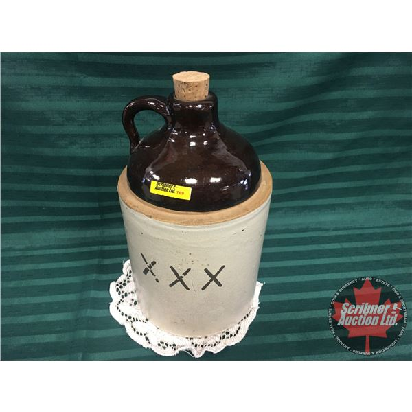 """Shoulder Crock Jug XXX (13""""H)"""