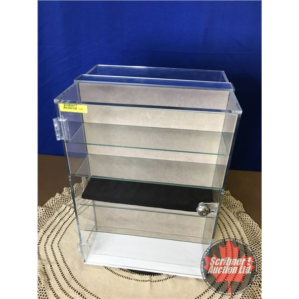 """Revolving 2 Drawer Counter Top Display Case - Lockable (17""""H x 11-3/4""""W x 9""""D)"""